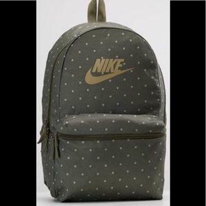 Nike Heritage Dot 2.0 Olive Grn & Gry Backpack NWT